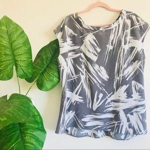 Vera Wang   marble blouse